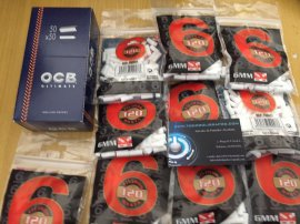 1 pack Ocb ULtimate ultrafino + 2500 filtros slim + 5 mecheros. ENVIO GRATIS