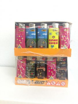 1 caja de Mecheros Minibic Retro Games. Mod. J 25